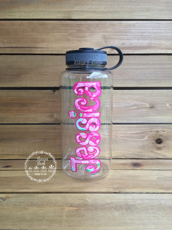Personalized Water Bottle Water Tracker Lilly Pulitzer