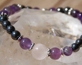 hematite and Amethyst bracelet