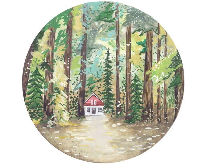 Autumn Cabin Print