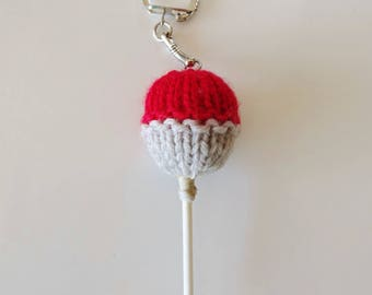 Keychain / bag in the shape of Red lollipop charm