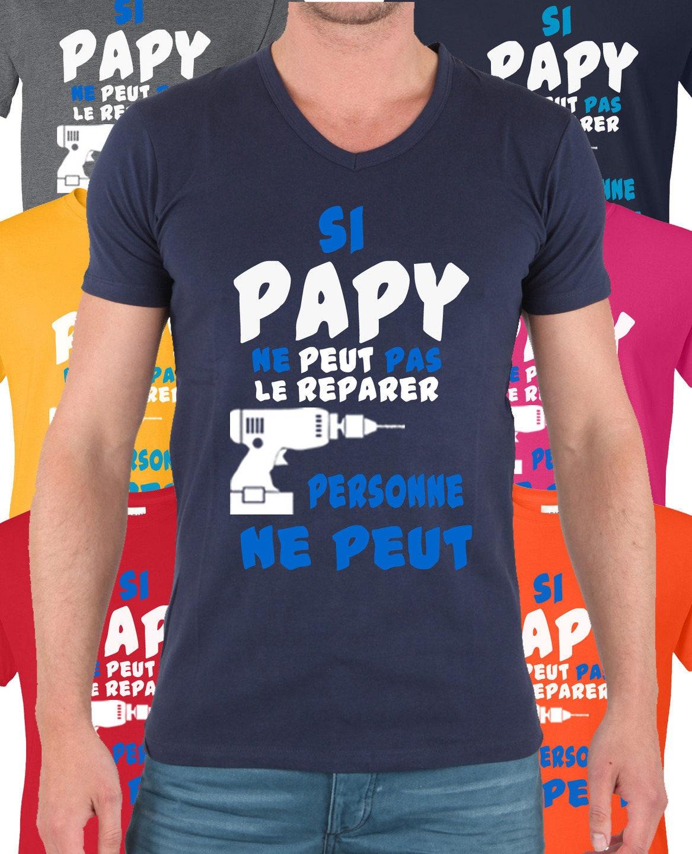 Top T-shirt Si papy ne peut pas le réparer alors personne ne peut. UQ98