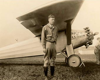 Charles Lindbergh and the Spirit of St Louis  8x10 digital download JPEG print
