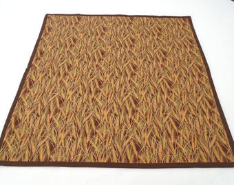Handmade harvest altar cloth Lughnasadh, Lammas golden wheat