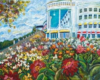 Grand Hotel, Grand Garden, Mackinac Island, Somewhere in time, Wedding, Garden art, Fine Art Print, Giclee, Canvas Print