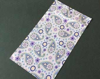 50 6x9 PURPLE PAISLEY Designer Poly Mailers Self Sealing Envelopes Shipping Bags