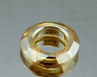 ring Crystal 30mm gold shadow
