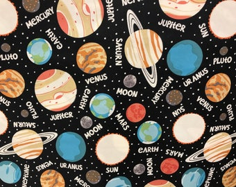 Planets, outer space, solar system fabric, galaxy fabric, stars fabric, nebula fabric, milky way fabric