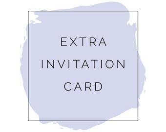Extra Invitation Card - Add on Listing