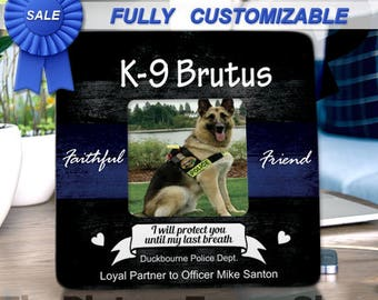 Police K9 Wife Police Dog Policeman Gift Police Officer Gifts Support The Blue Police Officer Decor K9 Law Enforcement Custom Picture Frame