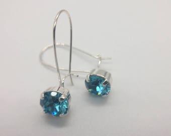 Light Turquoise Drop Earrings