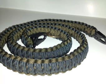 Paracord Triple Cobra Weave 2-in-1 Single/Two Point Sling, Nylon 550lb, 45 Different Colors