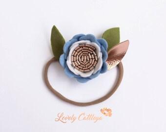 New |Peony Ombre | Felt Flower headband | Single flower