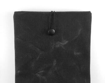 Waxed Canvas Ipad Mini Case,Black Ipad Sleeve,Black Ipad Cover,Waxed Canvas Ipad Cover,Waxed Canvas Ipad Sleeve,Ipad Mini Case,Book Case
