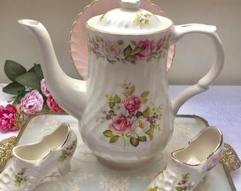 Beautiful and Rare James Kent Old Foley Harmony Rose Teapot
