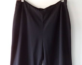 90s Palazzo pants// Sheer black ruffle bottom formal cocktail dress pants// Vintage JS Collections Canada// Women's 12 USA large L