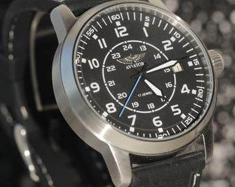 POLJOT. Aviator.Russian watch. Mechanical watch. Mens Watch.poljot.Russian watches