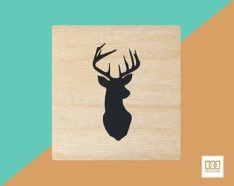 Deer - 1.5cm Rubber Stamp (DODRS0216)