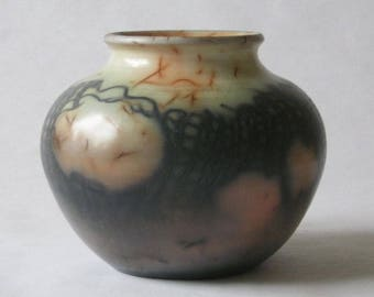 saggar fired ceramic vessel 17-038