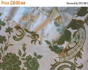25%OFF Olive Brocade Fabric pieces from Drapes - 4 pieces