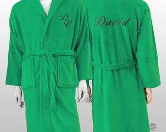 Personalized Plain Polar Robe Ref. Sweet - Green