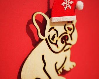 French bulldog christmas ornaments
