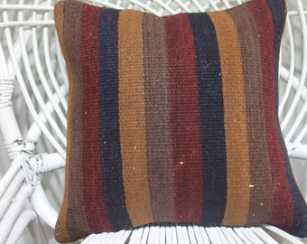 shabby chic pillow kilim pillow 16 x 16 turkish kilim pillow cover 16x16 victorian pillows sofa pillow covers 16x16 designer pillow 4169