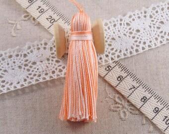 x 1 ombre tassel orange light tassel is 6cm handmade