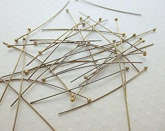Lot de 50 clous têtes boules bronze 40 mm - CTB-0939