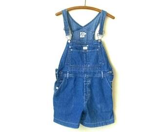 Vintage 1990s Calvin Klein denim overall shorts