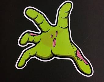 Vinyl Sticker - Zombie hand