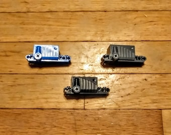 Lot of 3 Lego Pullback Motors 9 x 4 x 2 2/3 for Vehicles, Gray, Black, Blue, 47715c01, Excellent Condition