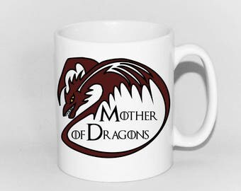 Mother of Dragons mug personalised to order by Tattoo Mug Lady