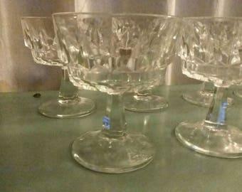 Arcoroc France Sherbet Glasses