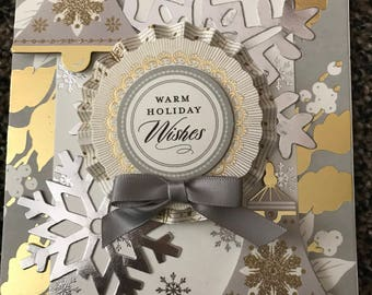 Christmas greeting card Holiday Wishes handmade