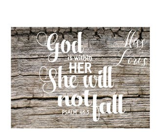 Psalms 46:5 God is within her she will not fall   SVG DFX Cut file  Cricut explore filescrapbook vinyl decal wood sign t shirt cricut cameo