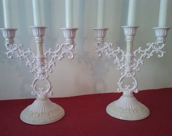 3 Branches SHABBY CHIC candle holder