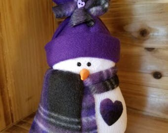 Valentine's Sock Snowman