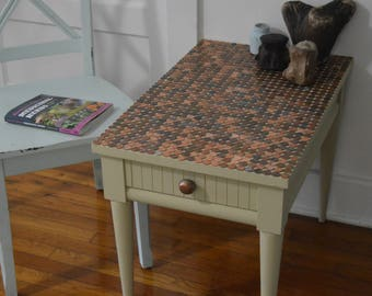 Penny Top Side Table