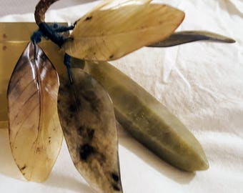 """Rare Chinese Qing Jade """"Stone Fruit"""" - Banana"""