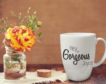 Personalised Statement Conical Mug - Gorgeous