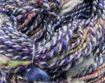 Purple Party - Hand Spun, Hand Dyed Alpaca Yarn