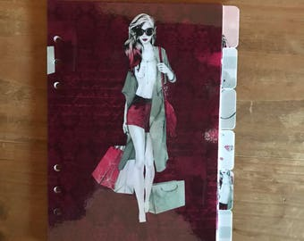 Shopping Girl planner dividers. Available for pocket, personal, foxy fix personal wide, recollections and A5 planners.