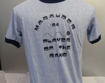 Vintage Graphic T-shirt (Basketball) - Marauder Tourment Player of the Game 1984 - Men's XL