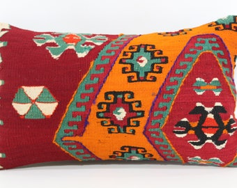 Bohemian Kilim Pillow Floor Pillow Ethnic Pillow 12x20 Lumbar Kilim Pillow Naturel Kilim Pillow Throw Pillow Cushion Cover  SP3050-1006