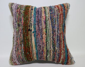 20x20 Anatolian Kilim Pillow Decorative Kilim Pillow Ethnic Pillow 20x20 Large Cotton Kilim Pillow Home Decor Cushion Cover SP5050-2344