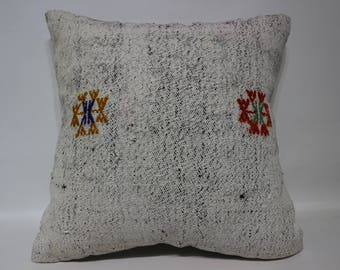 20x20 Turkish Kilim Pillow Bohemian Kilim Pillow  20x20 Anatoian Handwoven Kilim Pillow Home Decor Cushion Cover SP5050-2509
