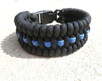 Paracord Bracelet Thin Blue Line | Cop Gift | Paracord Police Bracelet | Law Enforcement Bracelet | Police Lives Matter | Back The Blue