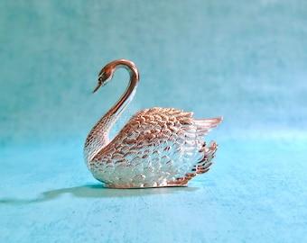 Vintage Godinger Silver Swan Napkin Display
