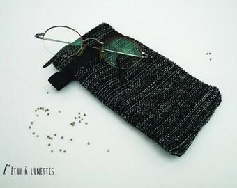 glasses case grey China pattern Designer