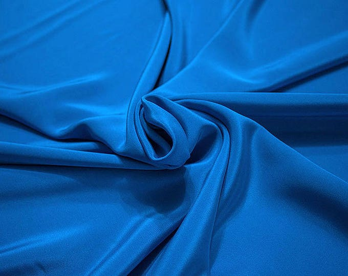 305161-Crepe marocaine Natural Silk 100%, width 130/140 cm, made in Italy, dry cleaning, weight 215 gr